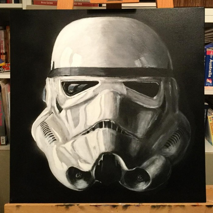 Star Wars Stormtrooper Painting