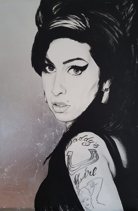 Painting of Amy Winehouse