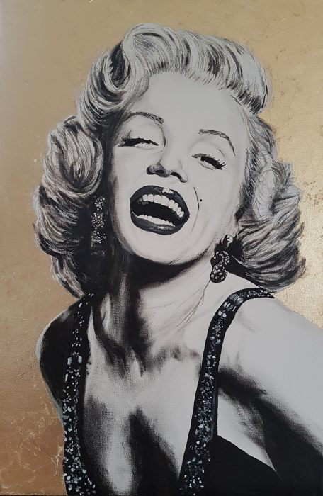 Painting of Marilyn Monroe