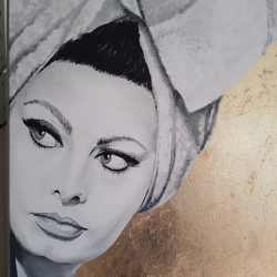 Painting of Sophia Loren