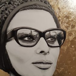 Portrait painting of Sophia Loren
