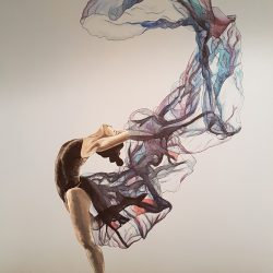 Contemporary dancer painting