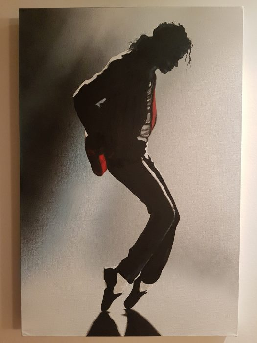 Painted portrait of Michael Jackson