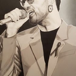 Painting of George Michael