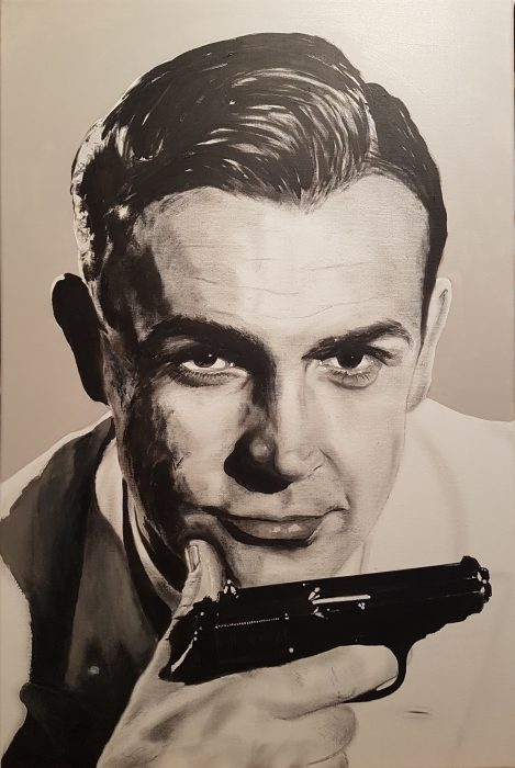 James Bond painting
