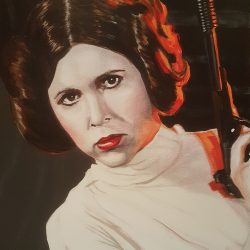 Star Wars painting of Princess Leia