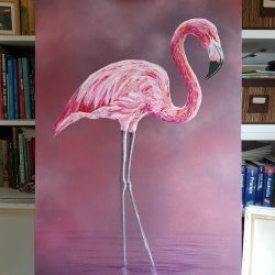 Portrait of a flamingo