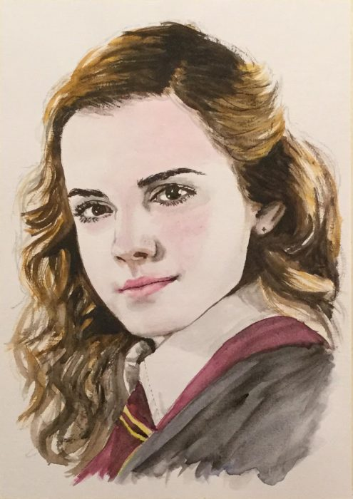 Painting of Hermione from Harry Potter