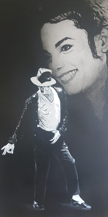 Painting of Michael Jackson