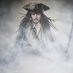 Jack Sparrow painting portrait