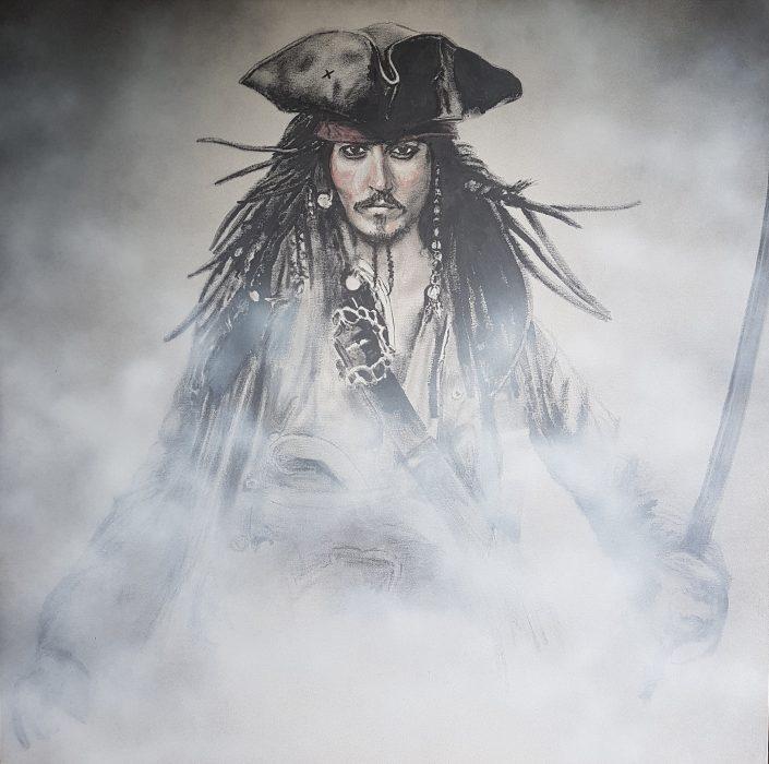 Jack Sparrow painting portrait