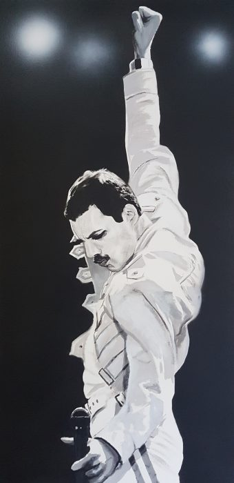 Portrait of Freddie Mercury