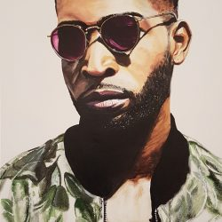 Painting of Tinie Tempah