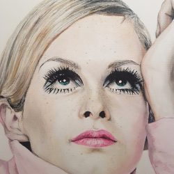 Twiggy painting portrait
