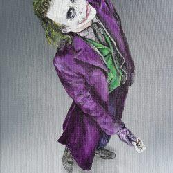 Joker portrait paitning