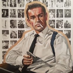 Portrait of Sean Connery James Bond