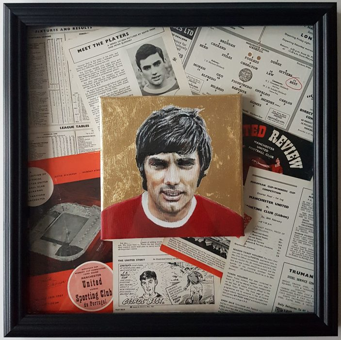 george Best portrait painting