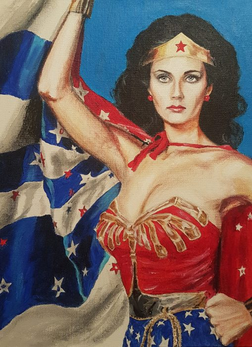 Wonder Woman Lynda Carter painting