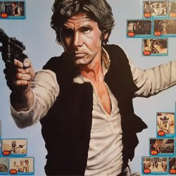 Portrait painting of Han Solo in Star Wars