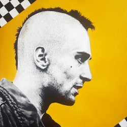 Robert De Niro portrait in taxi Driver