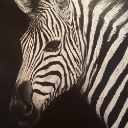 Painting of a zebra