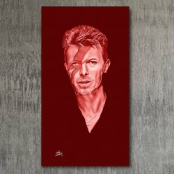 Portrait painting of David Bowie