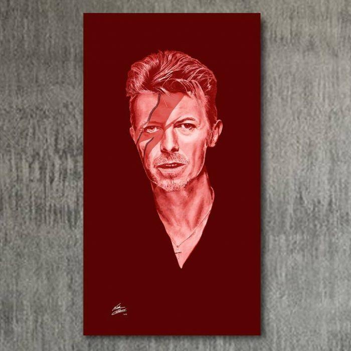 Portrait painting of David Bowie