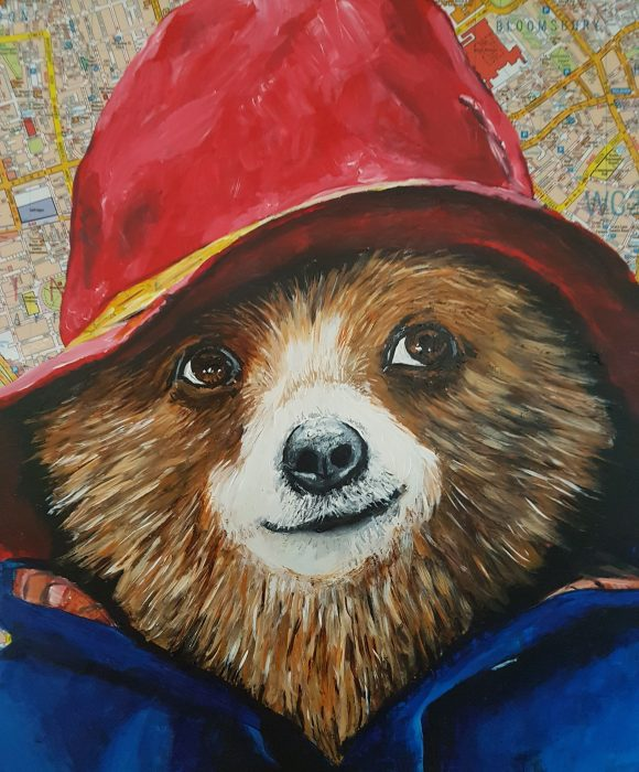 Portrait of Paddington bear