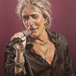 Rod Stewart portrait