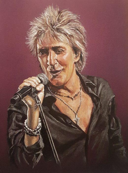 Rod Stewart portrait