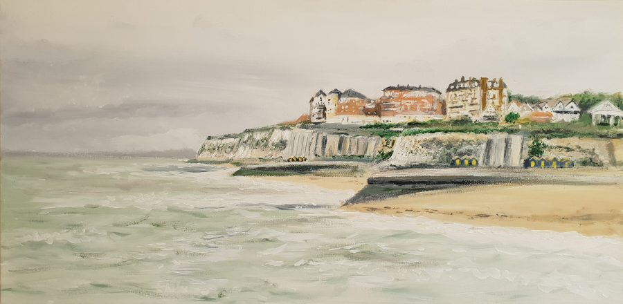 Painting of Broadstairs coastline