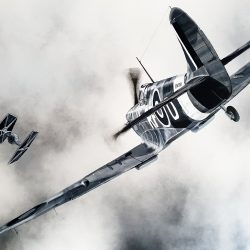 Spitfire and Star Wars painting