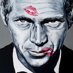 Painting of Steve McQueen