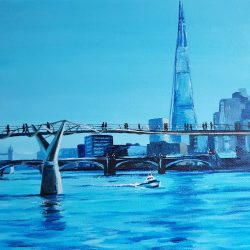landscape painting of the thames