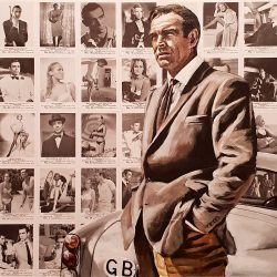 James Bond 007 portrait painting