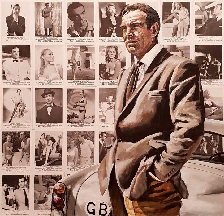 James Bond 007 portrait painting