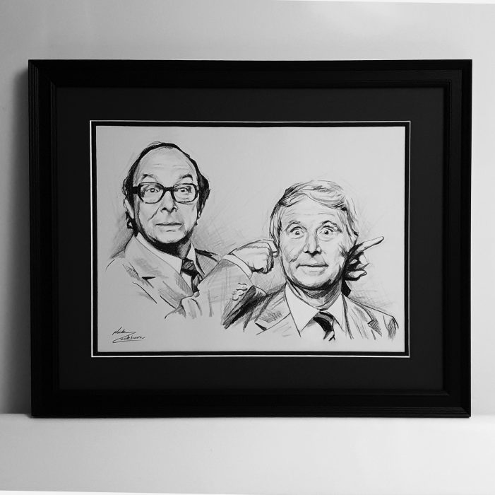 Drawing of Morecambe and Wise