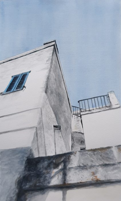 Painting of a Puglia house