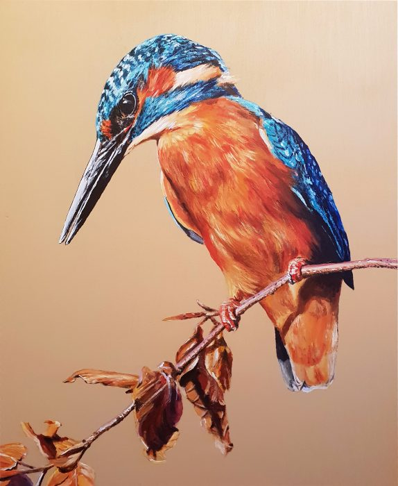 Painting of a Kingfisher