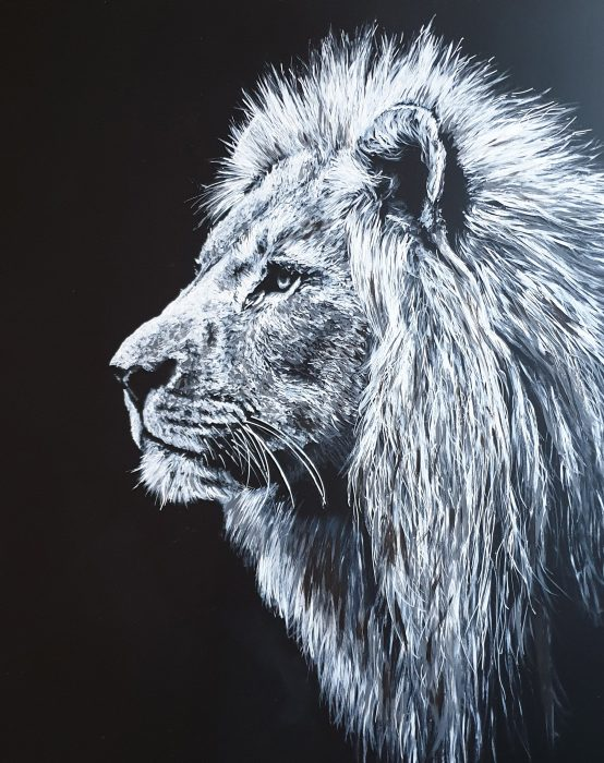 Painting of a lion