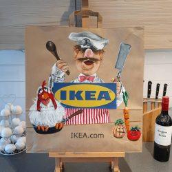 Swedish Chef painting