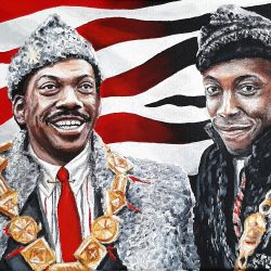 Coming to America painting