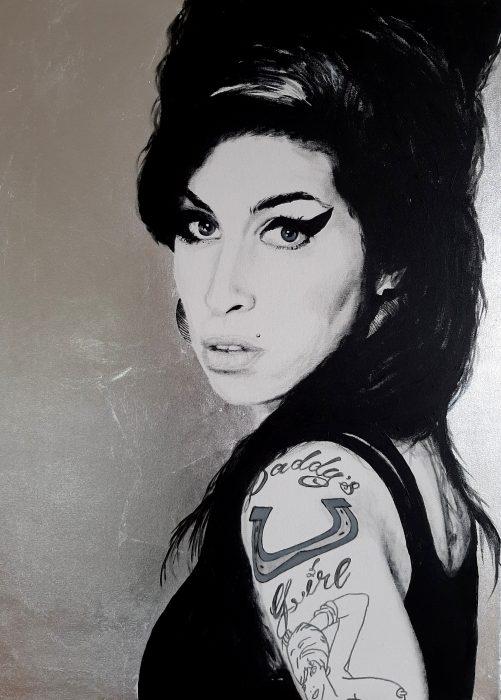 Portrait of Amy Winehouse
