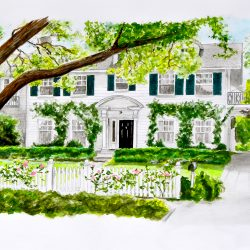 Painting of the house in Father of the Bride