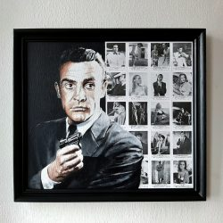 Painting of James Bond