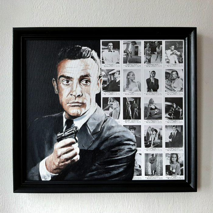 Painting of James Bond