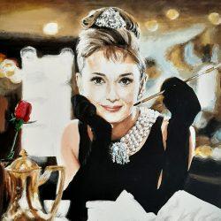 Painting of Audrey Hepburn