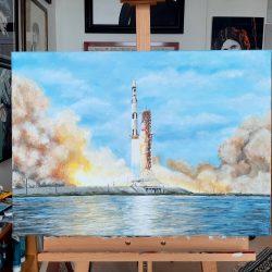 Saturn V painting
