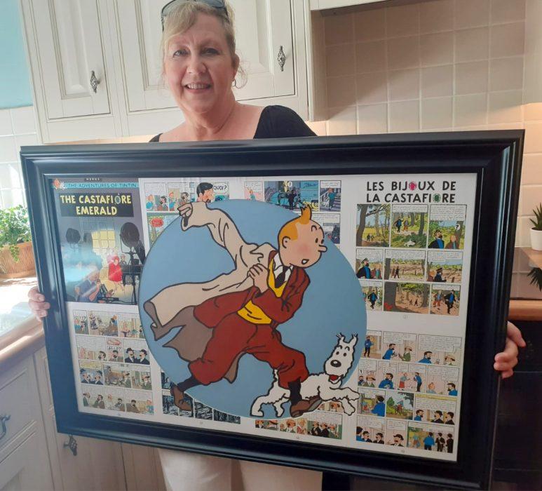 Tintin painting