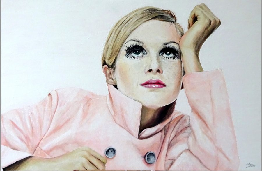 Painting of Twiggy